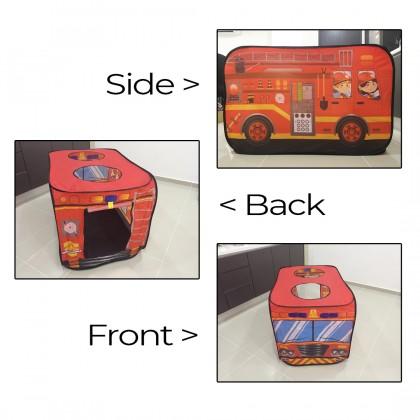 Kids Pop Up Tent School Bus Police Ice Cream Truck Fire Truck Indoor Outdoor Toy Playground Khemah Kanak-Kanak