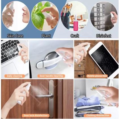50ml Portable Spray Flip Empty Transparent Plastic Bottle For Hand Sanitizer Face Mist Botol Sembur