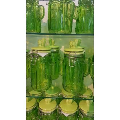 1pc 1L Cactus Glass Airtight Cookie Nuts Candy Jar Balang Kacang Gula-Gula Kuih Kaktus Hari Raya Aidilfitri