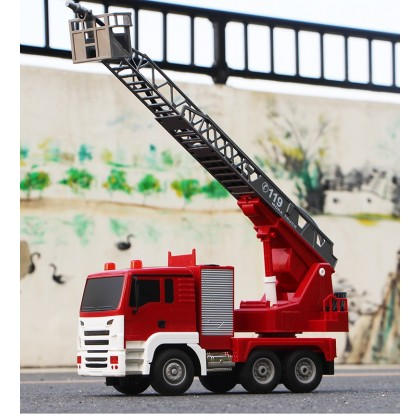 Fire Engine Truck With Water Spray & Remote Control Toy