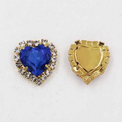 5pcs 10mm Heart Shaped Rhinestone Diamond Stone