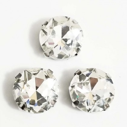 10pcs 12mm Round Clear Crystal Stone
