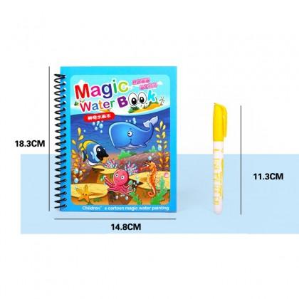 Water Color Book Ariel Mermaid Cartoon Reusable Early Learning Watercolour Book buku lukis cartoon kanak-kanak