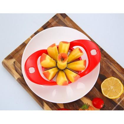 Apple Slicer Cutter Corer Wedge Pear Portable Handle Easy Cutter Wedge 8 Slices Apple Fruit Divider Cutter Kitchen Tool Pemotong Buah Epal 切苹果分割器水果去核器厨房小工具水果切
