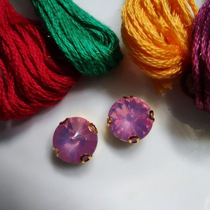10pcs 8mm Round Opal Jelly Crystal Chunky Bead Glass Montee Stones Sew On Batu Permata Jahit