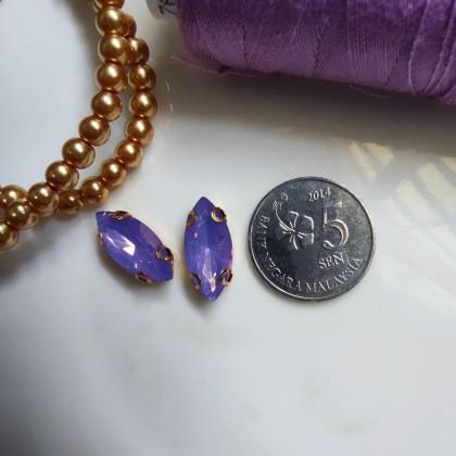 10pcs 7x15mm Horse Eye Opal Jelly Crystal Chunky Bead Glass Montee Stone Sew On Batu Permata Jahit