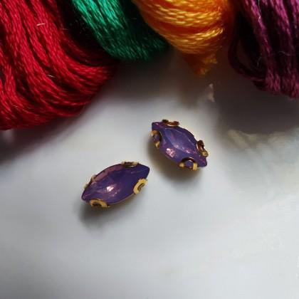10pcs 5x10mm Horse Eye Opal Jelly Crystal Chunky Bead Glass Montee Stones Sew On Batu Permata Jahit