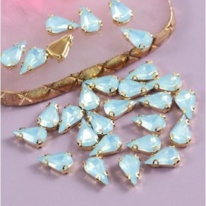 10pcs 8x13mm Teardrop Opal Jelly Crystal Chunky Bead Glass Montee Stone Sew On Batu Permata Jahit