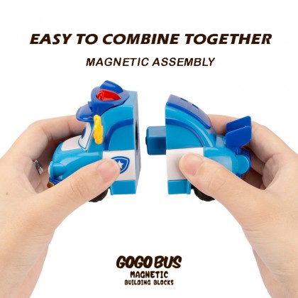 Go Go Bus Aircraft Toy Car Magnetic Deformation Robot