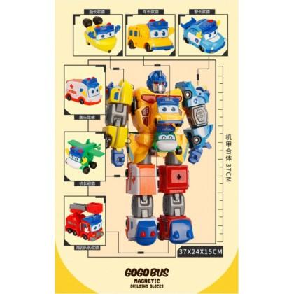 Go Go Bus Toy Music Toy Car Deformation Robot