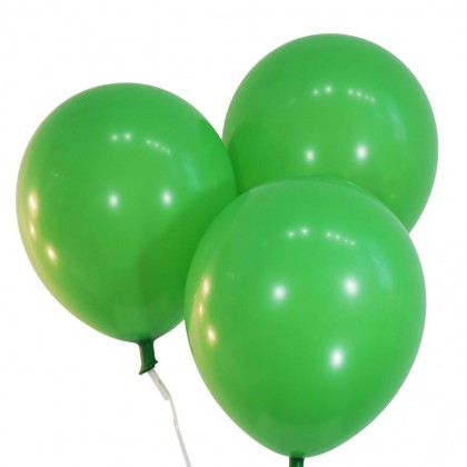 10 Inch 100 pcs Green Latex Balloon Helium Quality Biogradable Round Shape Strong and Thick for Parties Celebration Fun Events