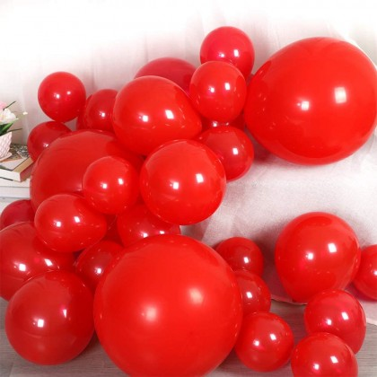 10 Inch 100 Pcs Red Latex Balloon Helium Quality Biogradable Round Shape Strong And Thick For Parties Celebration Fun Events