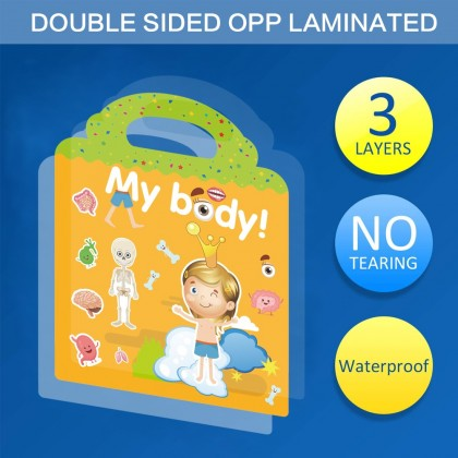 Space Stickers Book Reusable Children Stickers Educational Learning Book