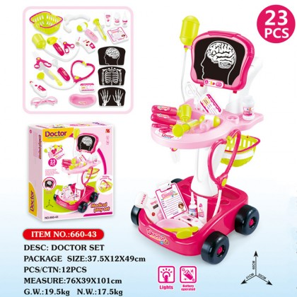 23pcs Doctor Medical Play Set Doctor Role Play Pretend Play Educational Toy For Kid