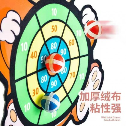 KidSafety Cow Sticky Dart Ball Game Dart Board Set